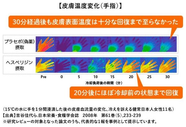 「健温計画」皮膚温度変化