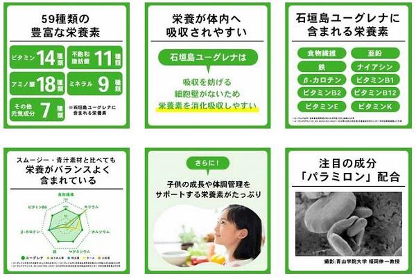 ユーグレナ栄養素